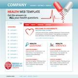 website för mall för hälsointernet medicinsk Arkivbild