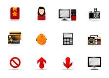 website för melo för 4 symbolsinternet set Royaltyfria Bilder