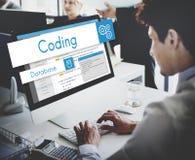 Website för rengöringsdukdesign som kodifierar begrepp Fotografering för Bildbyråer