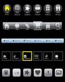 website för rollover för designmenypanel Royaltyfri Fotografi