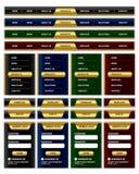website för elementmenynavigering Royaltyfri Bild
