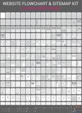 Website-Flussdiagramme eingestellt Lizenzfreie Stockfotografie