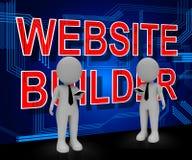 Website-Gebäude, das Wiedergabe der Lösungs-3d Software-kodiert Vektor Abbildung