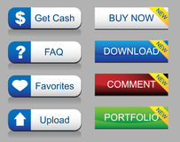 Website Glossy Button Set Royalty Free Stock Images