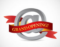 Website grand opening banner illustration design Stock Images