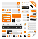 Website Graphics. Large set of icons, buttons and menus for websites