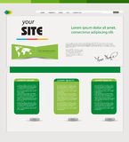 Website green template Stock Photos