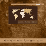 Website Grunge Template Royalty Free Stock Photography