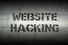 Website hacking gr. Website hacking stencil print on the grunge white brick wall; specially designed font is used stock photos