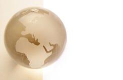 Website header / banner. Globe for web site headers. beige royalty free stock photos