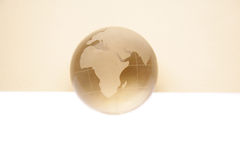 Website header / banner. Globe for web site headers. beige royalty free stock photography