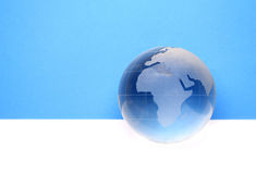 Website header / banner. Globe for web site headers. blue royalty free stock photos