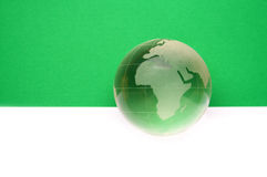 Website header / banner. Globe for web site headers. green royalty free stock image