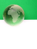 Website header / banner. Globe for web site headers. green royalty free stock photos