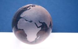 Website header / banner. Globe for web site headers. blue royalty free stock image
