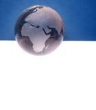 Website header / banner. Globe for web site headers. blue stock images