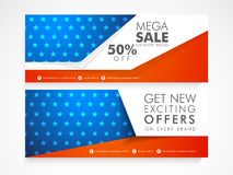 Website header or banner for American Independence Day. Royalty Free Stock Images