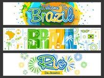 Website Header or Banner for Brazil. Stock Images