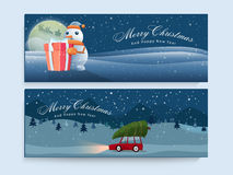 Website header or banner for Christmas and New Year. Royalty Free Stock Photo