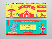 Website header or banner for circus. Colorful website header or banner set for circus Stock Images