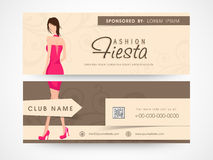 Website header or banner of fashion. Stock Photography
