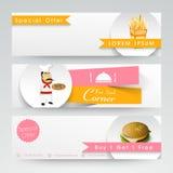 Website header or banner for Fast Food Corner. Stock Images