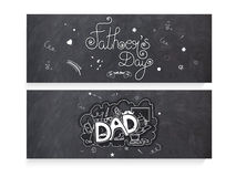 Website header or banner for Fathers Day Royalty Free Stock Photography