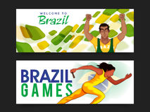 Website Header or Banner for Games concept. Stock Photos
