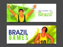 Website Header or Banner for Games concept. Stock Image