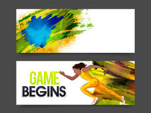 Website Header or Banner for Games concept. Stock Images