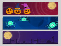 Website header or banner for Halloween Party. Royalty Free Stock Images
