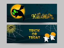 Website header or banner for Halloween Party. Stock Photos