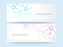 Website header or banner for Health and Medical. Royalty Free Stock Photo
