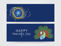 Website header or banner for Indian Republic Day. Royalty Free Stock Photo