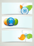 Website header or banner for Indian Republic and Independence Day ce Royalty Free Stock Photography