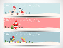 Website header or banner for Merry Chrmas celebration. Stock Photos