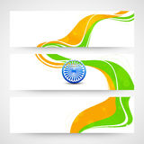 Website header or banner with national flag colors. Stock Photos
