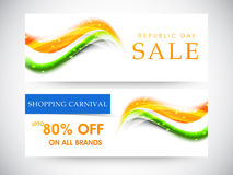 Website header or banner of sale for Indian Republic Day. Stock Image