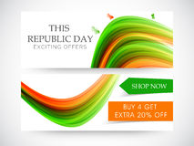 Website header or banner of sale for Indian Republic Day. Royalty Free Stock Images