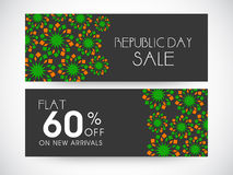 Website header or banner of sale for Indian Republic Day. Royalty Free Stock Photography