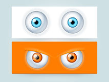 Website header or banner with scary eyes. Royalty Free Stock Photo