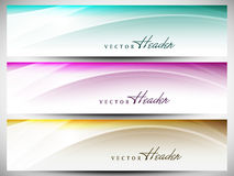 Website header or banner set Stock Photo