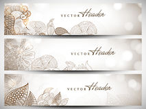 Website header or banner set Royalty Free Stock Photo