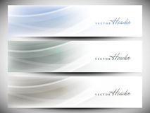 Website header or banner set Stock Photography