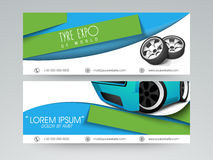 Website header or banner set for automobile sector. Royalty Free Stock Photography