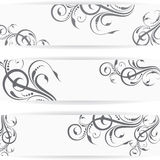 Website header or banner set with beautiful floral. Design Royalty Free Stock Photo