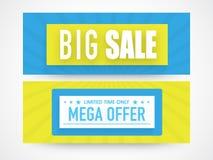 Website header or banner set for big sale. Stock Photography