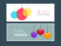 Website header or banner set for Christmas celebration. Stock Photo