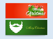 Website header or banner set for Christmas celebration. Stock Photography
