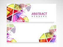 Website header or banner set. Colorful abstract website header or banner set with blank space for your content Stock Photography